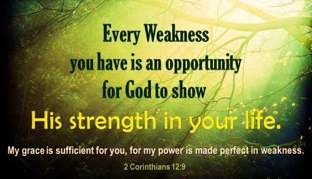 God's strength